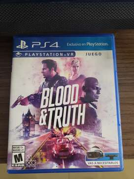 juego play station 4 VR Blood & Truth