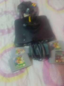 Nintendo 64 compketa y con 3 juegos