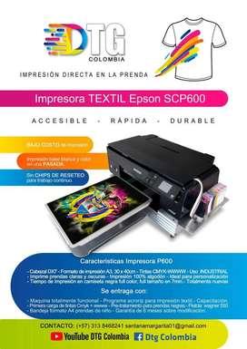Impresora Dtg Epson P600 4 Blancos