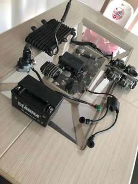 Repuestos suzuki freewind a 650 (cdi,regulador,bobina,switch,carbiradores,radiador,sensor de pata)