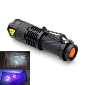 Linterna Metal De Luz Uv Con Zoom Precio Insuperable