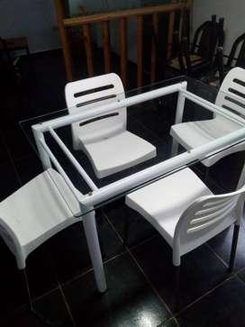 Vendo mesa +sillas