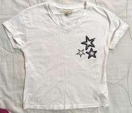 Camiseta corta talla 10 Tennis algodon