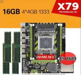 Combo Placa Base X79, 16gb De Ram Ddr3, Xeon 2689