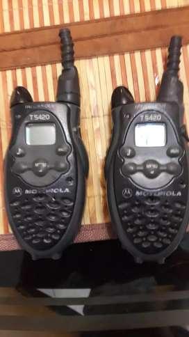 Radios motorola en buen estado ref T5420