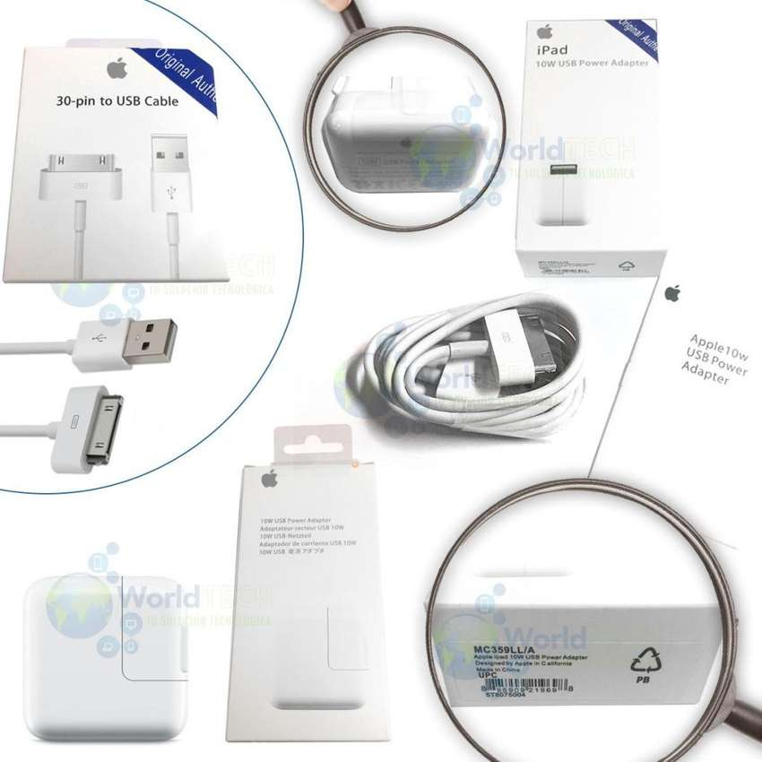 Cargador Cable De Datos Usb Ipad 1 2 3 10w 12w Original 0