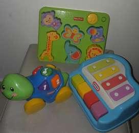 Tres clases de juguetes