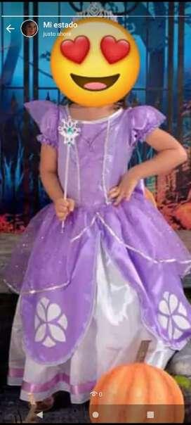 Traje de princesa Sofia