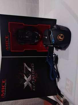 Mouse gamer x7 Esports 7 botones Luz RGB