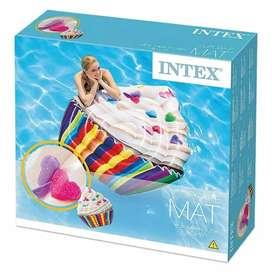 Colchoneta Inflable Pileta Intex Cupcake 142x135