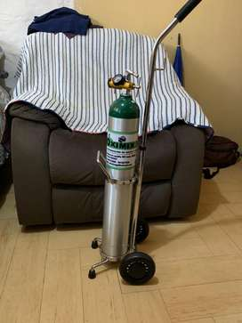 Balon de oxigeno portatil con manometro
