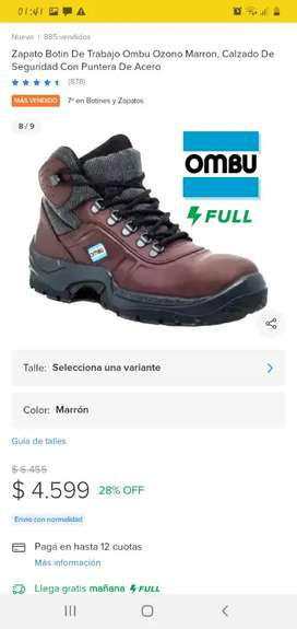 Vendo zapatos de Seguridad OMBU con 2 usos
