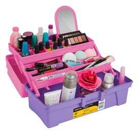 "Caja cosmetiquera 14"", rosa/morado, Pretul"