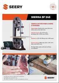 Sierra Sin Fin Para Carne SEERY 10SS CON MESA DE ACERO INOXIDABLE - MONOFASICO