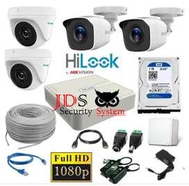 Camaras de seguridad-Kit Cctv Hikvision Dvr 1080 8ch + 4 Cám 1080p+ D 1tb .