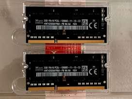 Memorias ram portatil DDR3 2X2GB 1600MHZ originales de macbook pro