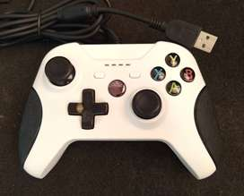 Joystick control USB para PC/Xbox One - Plug and play - Blanco - Seminuevo