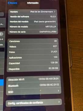 Vendo ipad 6 de 128GB
