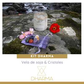 Kit Light: vela de soja & cristales