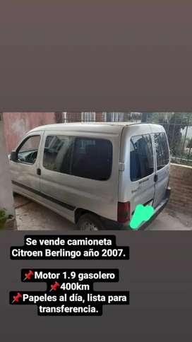 Citroën berlingo año 2007 motor 1.9 gasolero