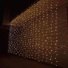 Luces navideñas de cascada