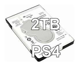 Disco Duro 2TB para PS4, Interno Nuevo todos los modelos: Pro Slim Fat, Seagate 2TB HDD 5400rpm Lince y Los Olivos
