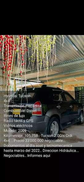 Se vende camioneta tucson 4x4 modelo 2009 por motivo de viaje bken cuidada Kilometraje 105. 758.