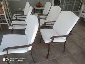 vendo sillas/sillones con apoya brazos