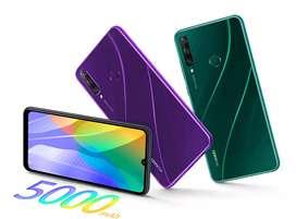 Huawei y6 p 64gb con audífonos Bluetooth
