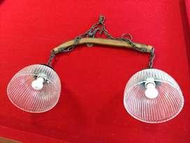 Lámpara doble para techo