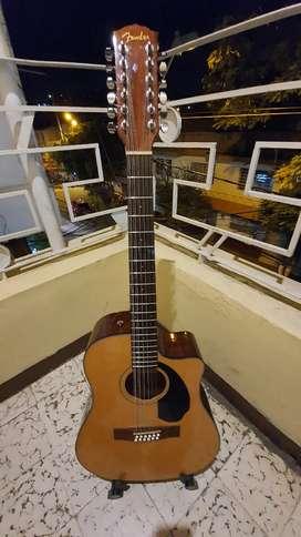 Guitarra fender electroacustica 12 cuerdas