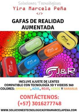 Gafas de Realidad Aumentada Color: Amarillo, Azul, Rojo, Verde y Naranja
