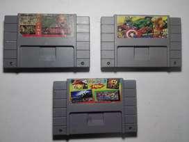 3 Juegos Super Nintendo Revisar Reparar O Repuestos