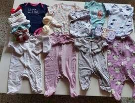 20 prendas de bebé de 0 a 3 meses