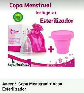 Copa Menstrual Y Vaso Esterilizador