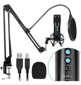 Micrófono Condensador + Kit Con Brazo Ajustable