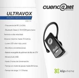 Ultravox MiPrecio $15.          Audífono Bluetooth Khs-115 Klip Xtreme