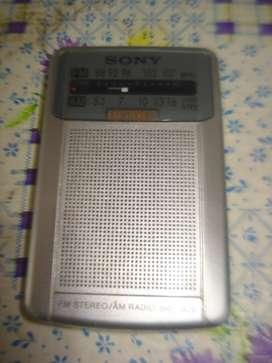 Radio Sony Srf S26 Am Fm Impecable Pocket Analogica Excelent