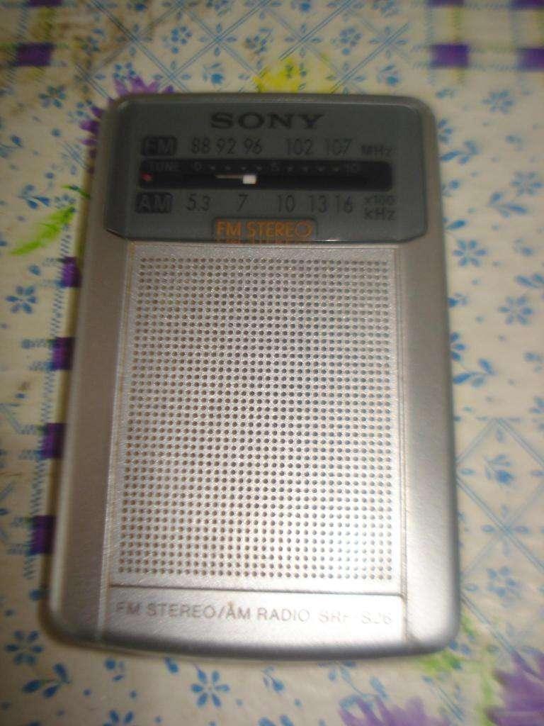 Radio Sony Srf S26 Am Fm Impecable Pocket Analogica Excelent 0