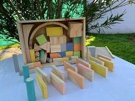 Bloques de madera por 50 unidades