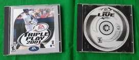 2 Cd juegos EA SPORTS TRIPLE PLAY 2001