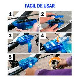 Kit limpiador cadenas bicicleta cepillo mantenimiento