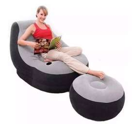 Sillon Inflable & Puff + Inflador
