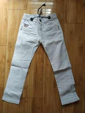 Pantalón Blanco para Niño Talla 10