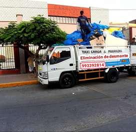 eliminación de desmonte y recojo de escombro y taxi carga