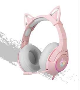 Audifonos Oni K9-2 Rosa nuevo
