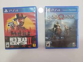 Combo juegos Playstation Red Dead Redemption II+God Of War