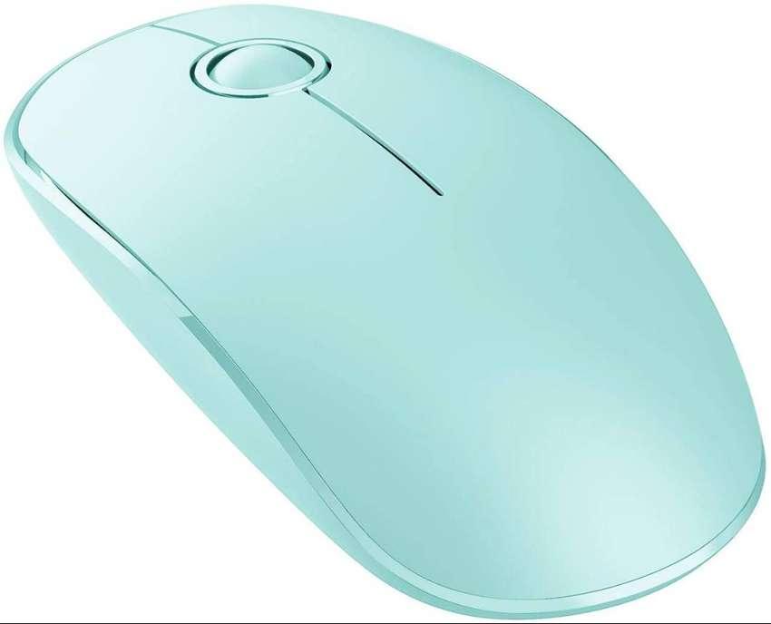 Mouse Inalámbrico Delgado Victsing 2.4g - verde menta