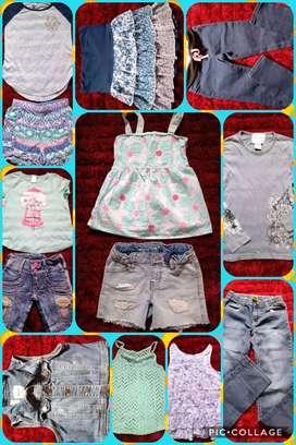 Lote ropa para niña talla 7_8 americana