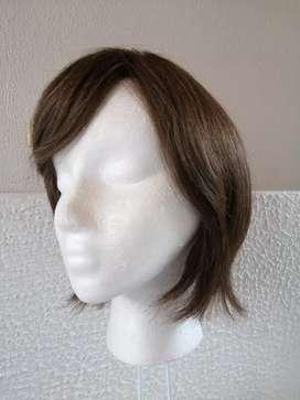 Peluca oncológica cabello 100% natural
